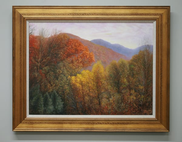 Swannanoa Autumn Scene - Original Oil Painting for Sale - Autumn Landscape Painting Blue Ridge Mountains -  Art of Jason Rafferty - Asheville NC
