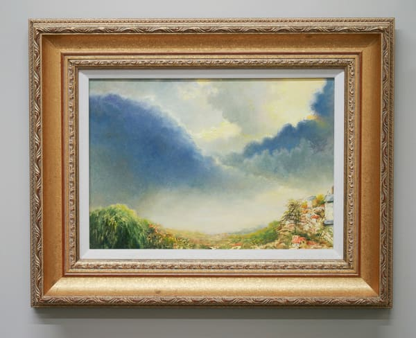 Argenton Clouds - Original Oil Painting for Sale - Classical French Landscape - Art of Jason Rafferty - Asheville NC