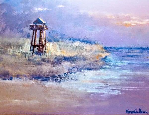 Sebastian Coast Guard Tower, Original Acrylic Painting