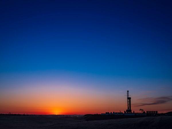 Drilling Rig Sunrise