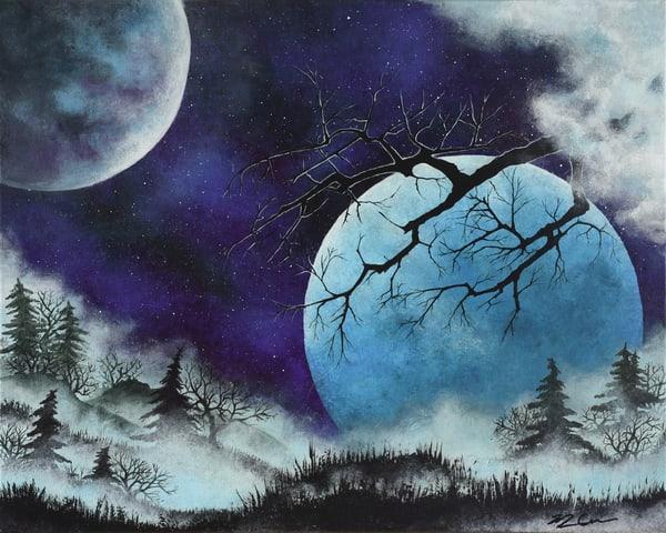 Two Moons And Mist Art   Monique Cudbertson Art