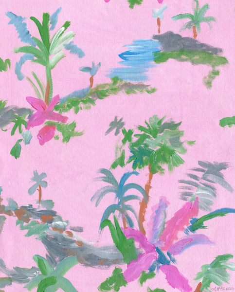 Pink Palms | Painting by Annelie McKenzie