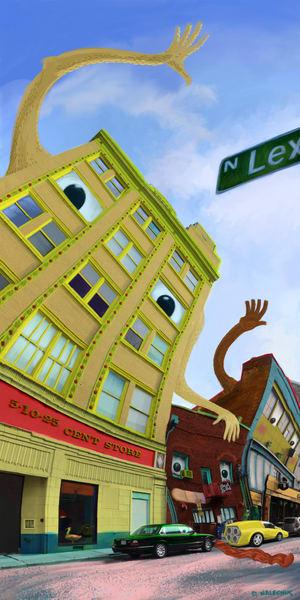 It's A Friendly Little Town Art | Davenik Art