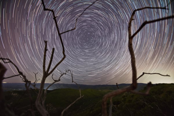 Desert Star Trails Photography Art | Chad Wanstreet Inc