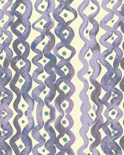 Abstract Squiggle Lines Print