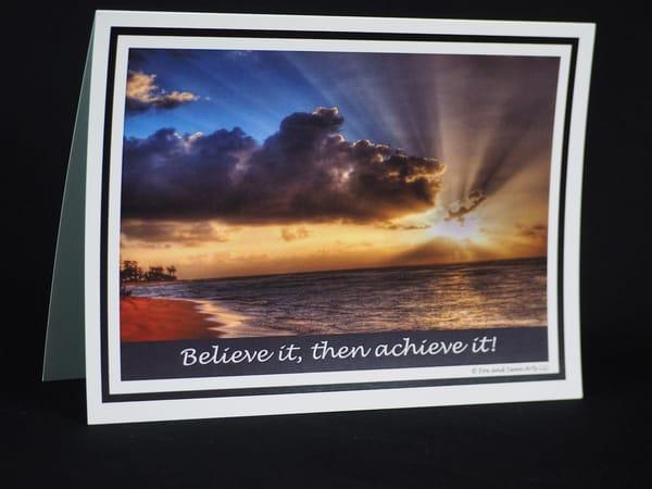 Believe It Achieve It Card