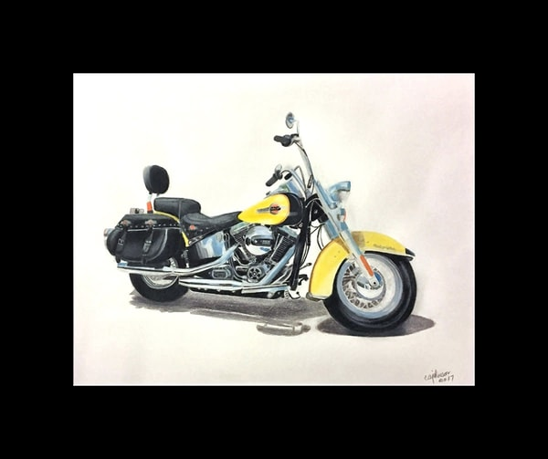Commissions for Cars, Etc., Original Colored Pencil Painting
