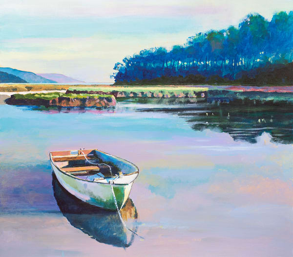 Laugharne Marshes Art Print