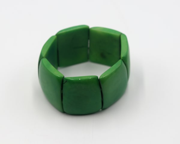 Handmade Tagua Nut Lime Green Bracelet Jewelry
