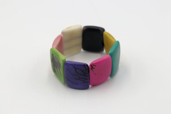 Handmade Tagua Nut Bracelet Jewelry Multi Colored