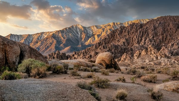 Daybreak at the Alabama Hills