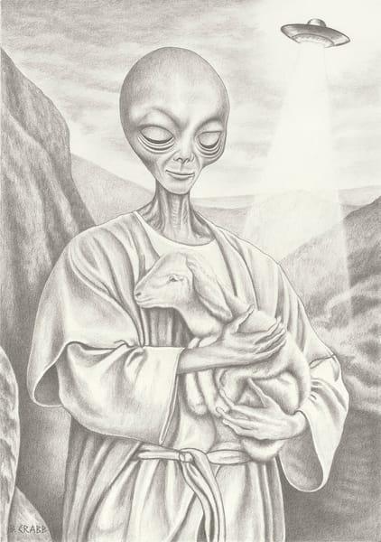 Alien Jesus Good Shepherd, Fri Jul 26, 2019,  7:33:31 PM,  8C, 4276x5968,  (1012+1421), 100%, low contrast 8,  1/30 s, R54.5, G45.4, B87.1