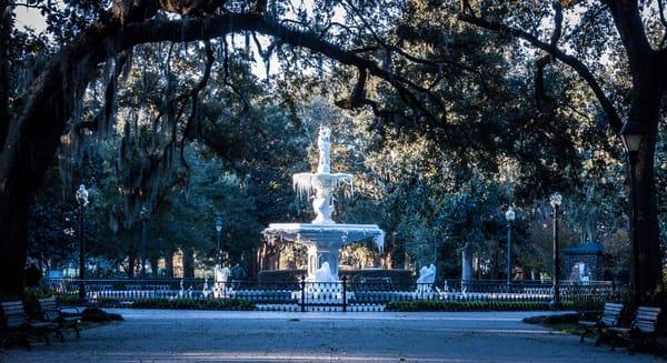 Frozen Forsyth Fountain