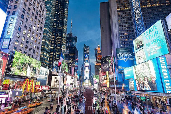 Blue Hour at Times Square - NYC Skyline Wall Mural