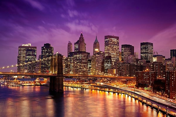 City that Never Sleeps - NYC Skyline Mural
