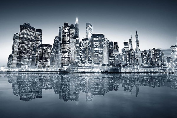 Manhattan Reflection - Wall Murals NYC