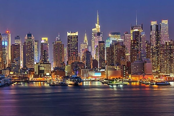 New York at Dusk - New York Skyline Mural