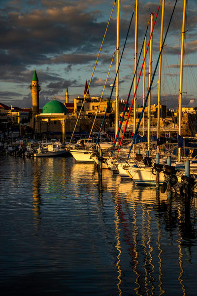 Acre harbor sunset