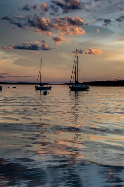 Sailing into a Maine sunset