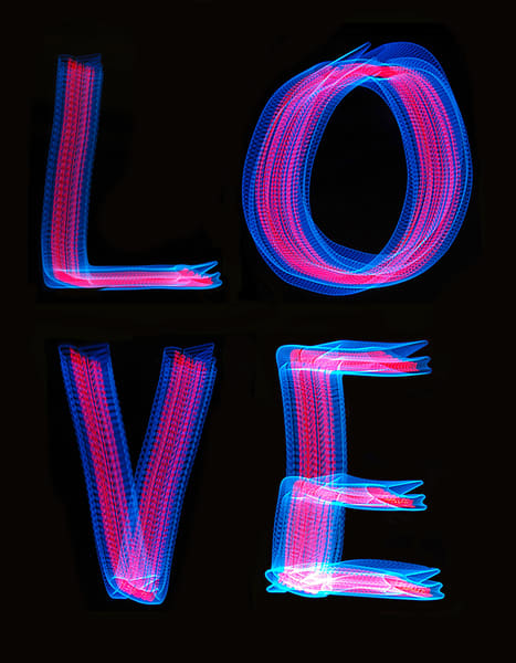 Love Light Painting 2 Photography Art | David Louis Klein
