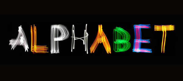 Alphabet Light Painting Photography Art | David Louis Klein
