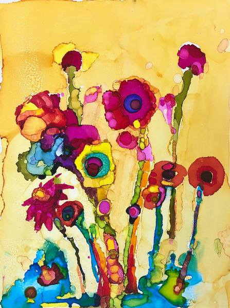 "Stunning expressionist floral painting by Monique Sarkessian my Heaven landscape paintings. This is ""Heaven Glory Carriers 13"" of wild growing poppies."