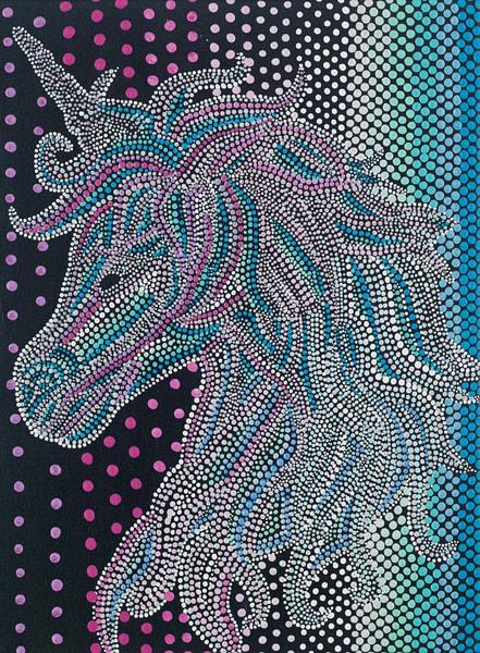 Mythical Unicorn Dot Painting