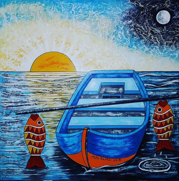 La Barca Azul Art | Ralwins