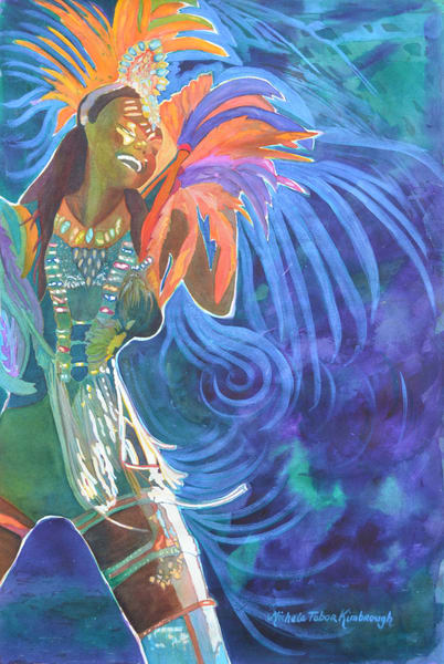 Life's A Carnival   Crucian Carnival Series Art | Michele Tabor Kimbrough