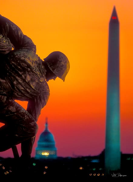 Iwo Jima Memorial Dawn Va Photography Art | vitopalmisano