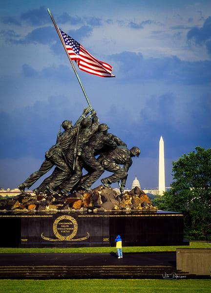 Iwo Jima Washington Dc After Rain Photography Art | vitopalmisano