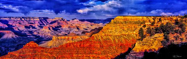 Grand Canyon Pano Spectators Sign Az Photography Art | vitopalmisano
