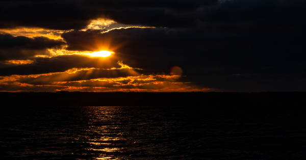 Winter Sunset over Cayuga Lake