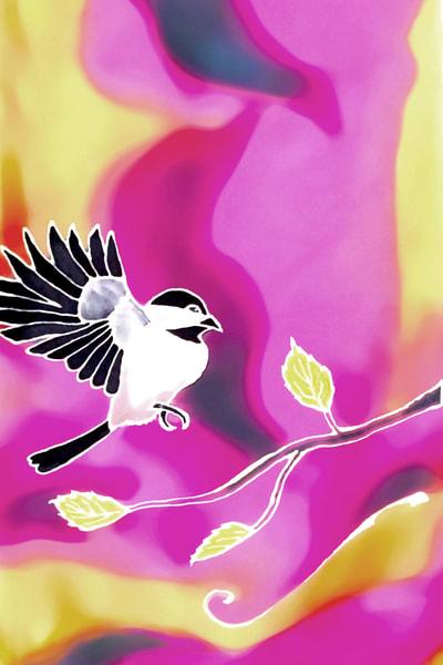 Spring Chickadee by Amanda Faith Thompson Alaska art print