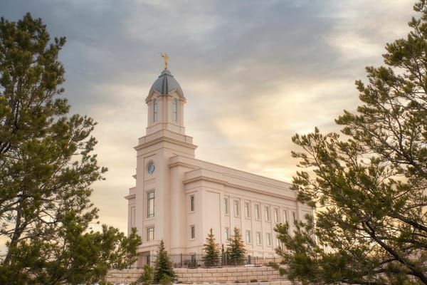 Cedar City Utah Temple - Peace Be Unto Thy Soul