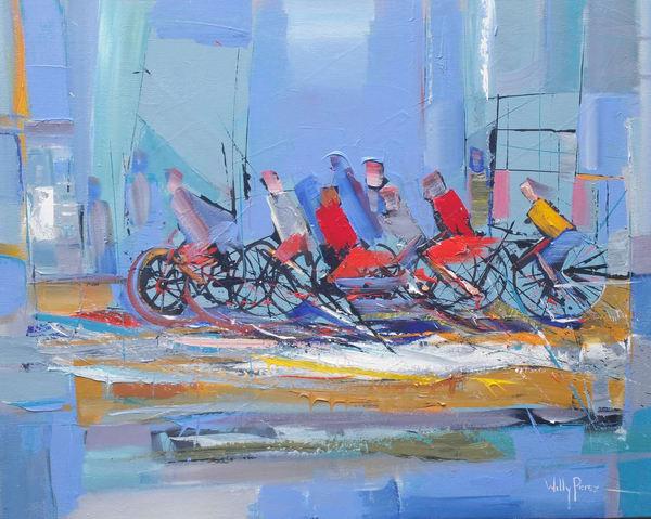 Ciclistas 24 X30 160512 Art | Ralwins Art Gallery