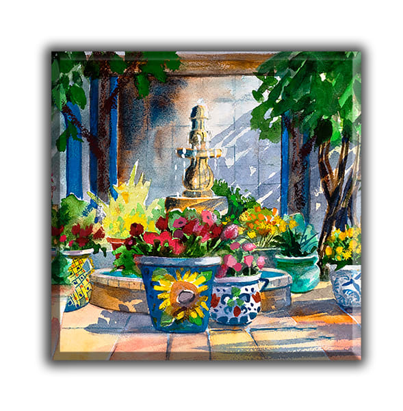 Courtyard Splendor Glass Trivet | Madaras Gallery