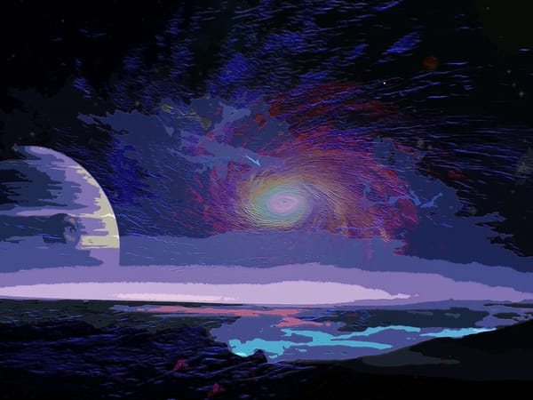 Space Fantasy Art - Galaxy in View - Don White Art Dreamer