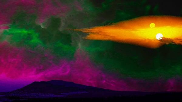 Space Fantasy Art - Exoplanet Sunset - Don White Art Dreamer