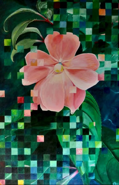 """My Pink Impatiens"" Original"