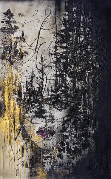 Face In Trees Art | Asaph Maurer