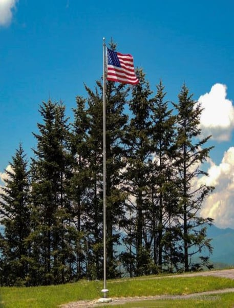 Old Glory On The Blue Ridge Parkway Photography Art | N2 the Woods Photography
