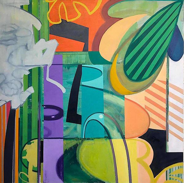 65x65 Oil On Canvas, Summertime Art | sheldongreenberg