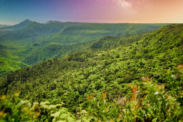 Stars Over Mauritius | Mountain Landscape Photography Print