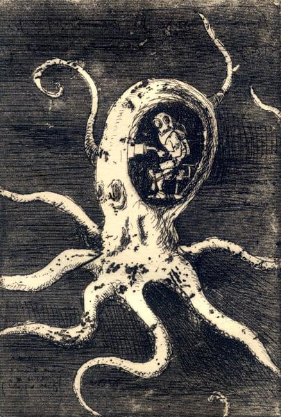 Manned Octopus  Art | artemart
