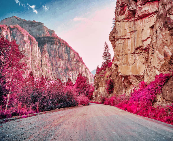 Camp Bird Road Infrared | Mountain Landscape Photography Print