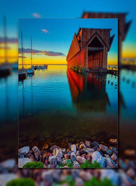 Marquette Ore Dock V 3 D Photography Art | Whispering Impressions