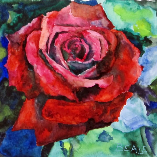 Red Rose #2 Art | David Beale