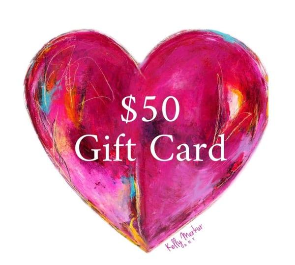 $50 Gift Card | kellymerkurart