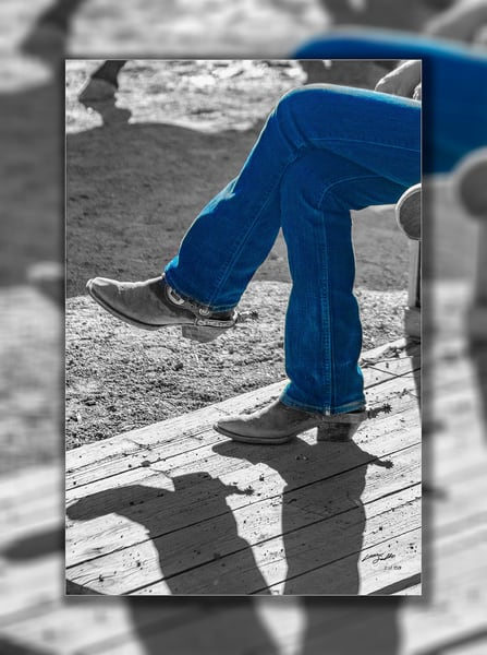 Relaxed Blue Jeans 3 D Photography Art   Whispering Impressions